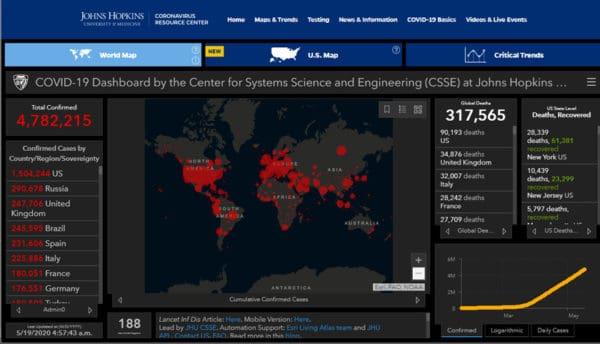 COVID-19: Angka jangkitan seluruh dunia melepasi 4.7 juta kes