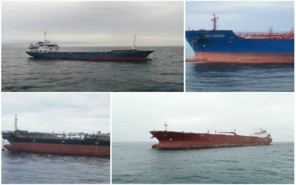 Lima kapal dagang diusir kerana berlabuh tanpa kebenaran