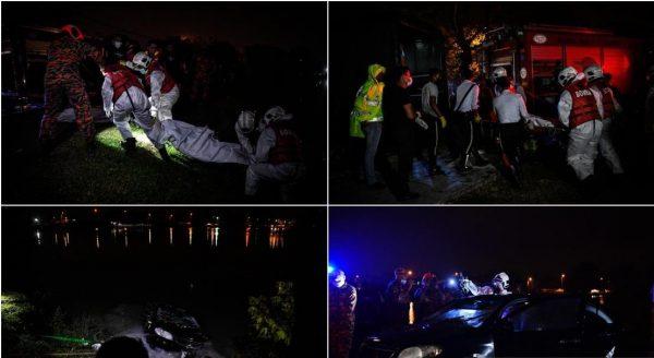 Identiti mangsa maut kereta terjunam ke dalam Tasik Biru dikenal pasti