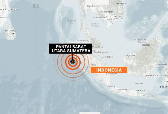 Gempa bumi sederhana gegar pantai barat utara Sumatera