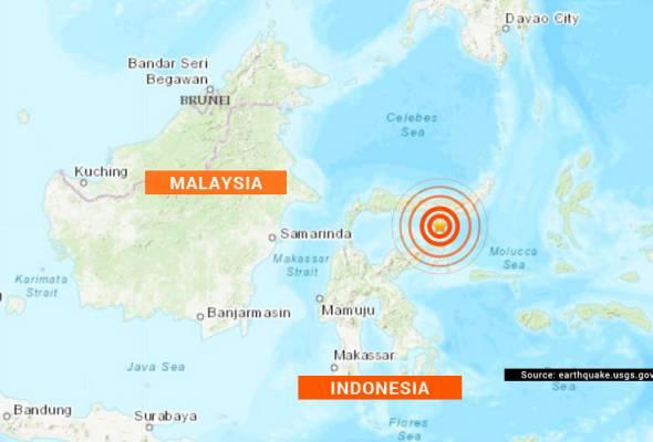 Gempa bumi sederhana landa Semenanjung Minahassa, Sulawesi